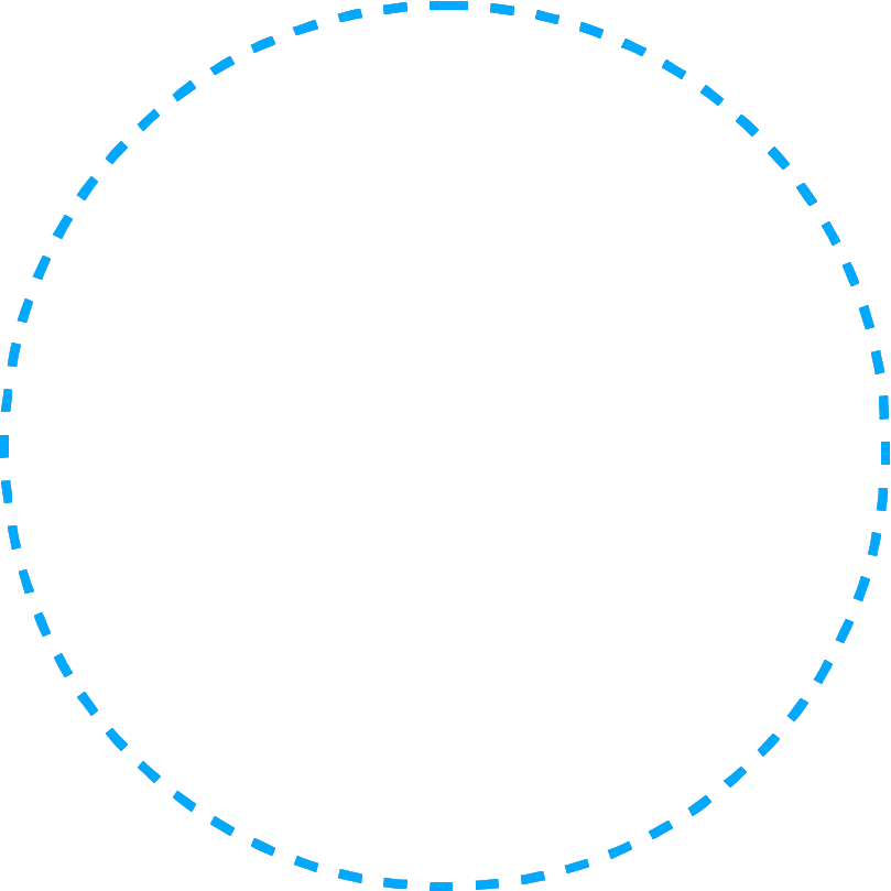 Infographic circe dots blue